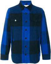 MAISON KITSUNÉ plaid shirt - men - Polyamide/Wool/other fibers - S