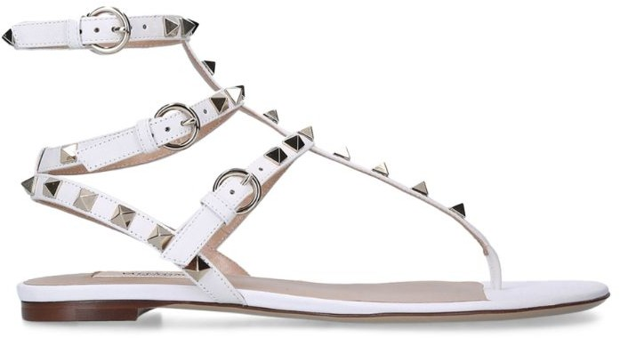 Valentino Valentino Garavani Rockstud Gladiator Flat Sandals