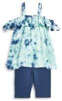 Splendid Little Girl's Cold-Shoulder Top and Leggings Set