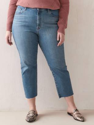 J Brand Ruby High-Rise Cropped Cigarette Jean
