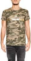 Balmain Camouflage Cotton T-shirt With Print
