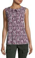 Karl Lagerfeld Suits Printed Sleeveless Blouse
