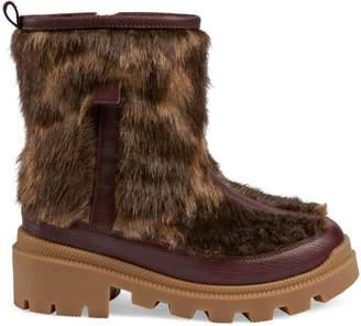 Gucci Children's GG faux fur boot
