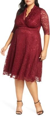 Kiyonna Mademoiselle Lace A-Line Dress