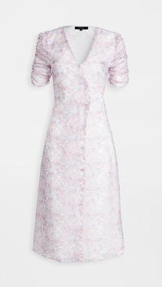 En Saison Floral Print Wrap Button Down Dress