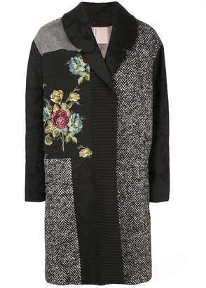 Antonio Marras patchwork jacquard coat