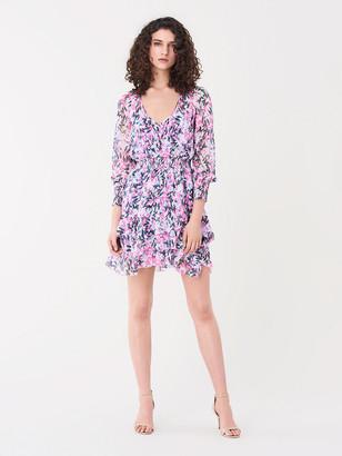 Diane von Furstenberg Kelby Silk-Chiffon Mini Dress