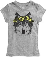 Urban Smalls Heather Gray Wolf & Wreath Fitted Tee - Toddler & Girls