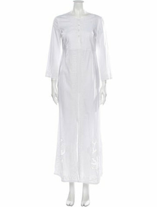 Le Sirenuse Positano Crew Neck Long Dress White