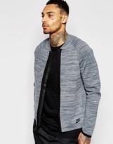 Nike Tech Knit Bomber In Grey 810558-065