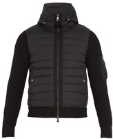 Moncler Contrast-panel Zip-through Hooded Sweater