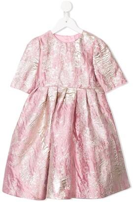Dolce & Gabbana Jacquard Crinkle Dress