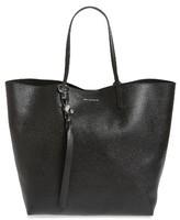 Alexander McQueen Calfskin Leather Tote - Black
