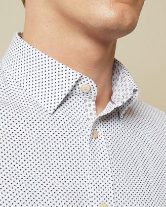 Ted Baker WINDO Cotton geo print shirt