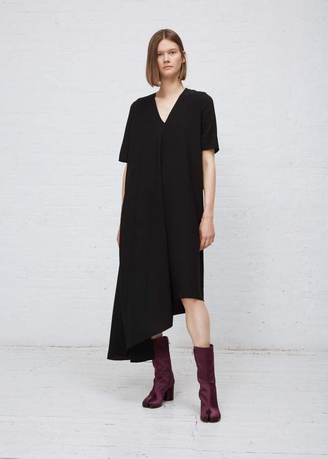 Maison Margiela Crepe Asymmetrical Dress