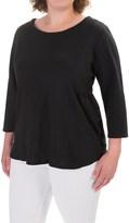 Caribbean Joe Slub Solid Shirt - 3/4 Sleeve (For Women)