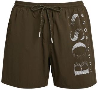 BOSS Pixel Logo Swim Shorts