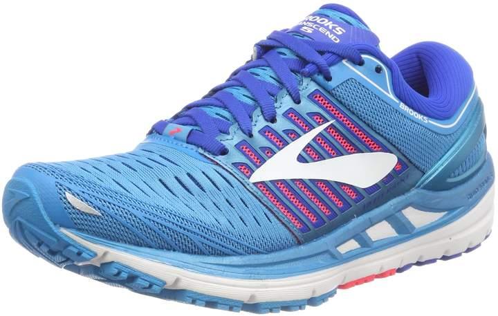 Brooks Women's Transcend 5 Running Shoe (BRK-120263 1B 3934530 6 BLU/PNK/WHT)
