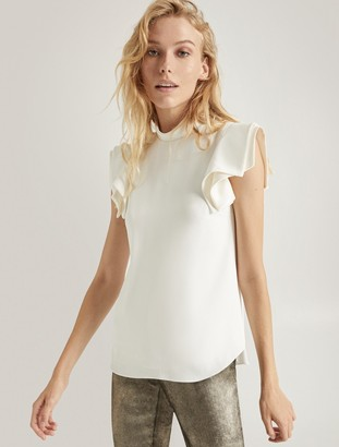 Halston Architectural Sleeve Top