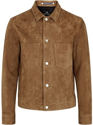 Paul Smith Rider Brown Suede Jacket