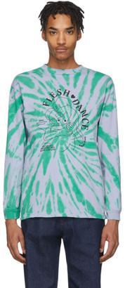 Carne Bollente Purple and Green Tie-Dye Flesh Dance Long Sleeve T-Shirt