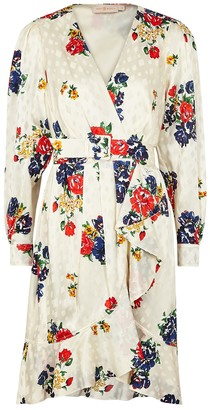 Tory Burch Floral-print silk-jacquard wrap dress