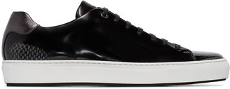 BOSS Patent Lace-Up Sneakers
