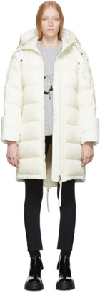 MONCLER GENIUS 2 Moncler 1952 White Down Narvalong Coat