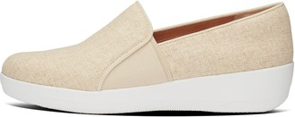 FitFlop Veda Glitzy Canvas Slip-On Sneakers