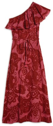 Le Sirenuse Positano Printed One-Shoulder Anne Dress