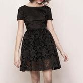 Maje Basket knit embroidered dress