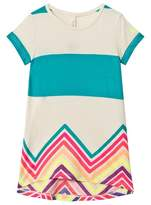 Benetton Beige Multi-Colour Stripe Jersey Dress