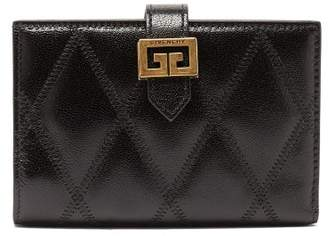 Givenchy Gv3 Quilted-leather Wallet - Womens - Black