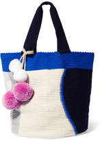 Sophie Anderson Jonas Pompom-embellished Woven Tote