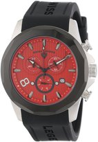 Swiss Legend Men's 10042-05-BB Monte Carlo Chronograph Textu Dial Black Silicone Watch