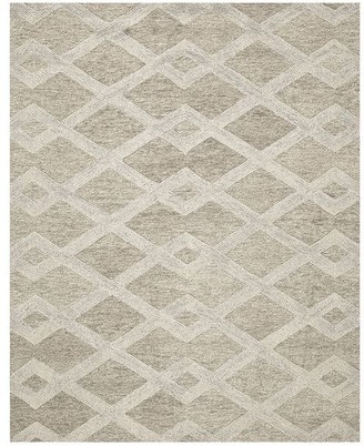 Pottery Barn Chase Textured Hand Tufted Wool Rug - Ivory