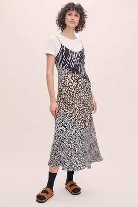 Lula Kachel Leopard-Print Silk Slip Dress