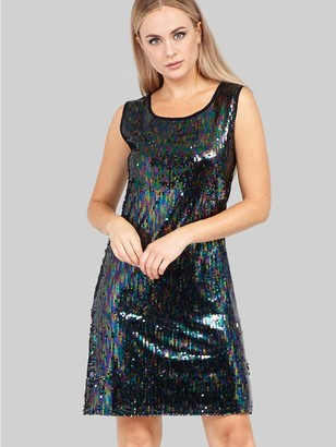M&Co Izabel sequin front shift dress