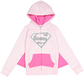 Jerry Leigh Ice Pink 'Supergirl' Caped Hoodie - Girls