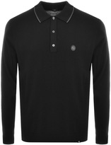 Pretty Green Pretty GreenTilson Tipped Knit Polo T Shirt Black
