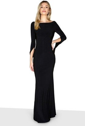 Little Mistress Black Long Sleeve Maxi