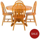 Kentucky 107 Cm Round Dining Table + 4 Chairs - Oak-Effect, White/Natural