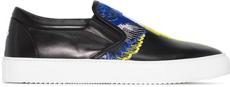 Marcelo Burlon County of Milan Wings embroidered slip-on sneakers
