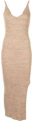 ANNA QUAN Nash side slit knitted dress