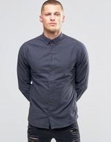 Blend of America Slim Butondown Shirt Flannel Ebony Gray