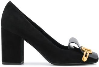 Valentino VLOGO square-toe pumps