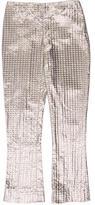 Valentino Cropped Metallic Pants w/ Tags