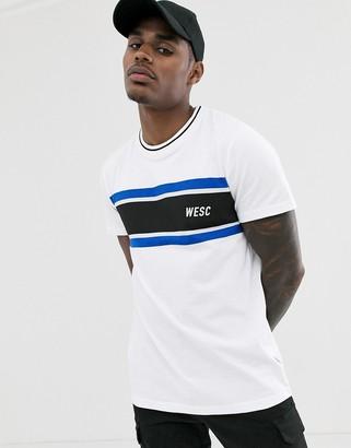 Wesc Max chest stripe t-shirt-White