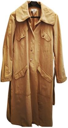 Fendi Beige Suede Coat for Women Vintage