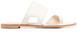 Alexander McQueen Cut-Out Details Flat Sandals